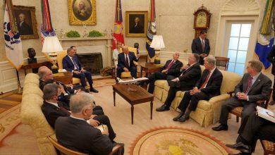صورة ترامب يجدد تعهده بسحب القوات من العراق