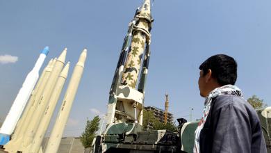 صورة اعتراض صاروخ باليستي أطلقه الحوثيون باتجاه السعودية