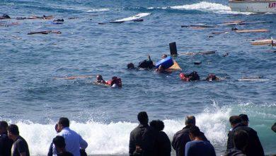 صورة غرق 24 مهاجرا على الأقل قبالة ليبيا