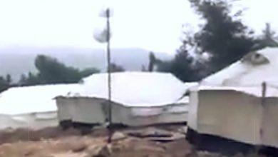 صورة عاصفة التنين تضرب مخيمات النازحين شمال سوريا