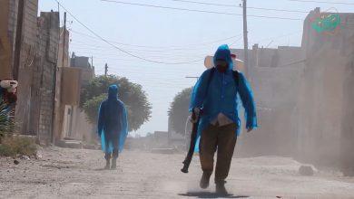 صورة الجولة الثانية من حملة تعقيم شوارع الرقة