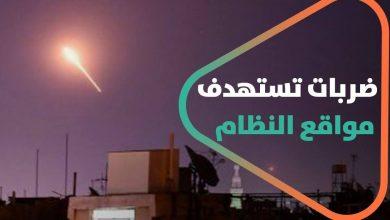 صورة ضربات تستهدف مواقع لقوات النظام السوري