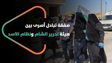 صورة ثلاثة عسكريين مقابل ست نساء وطفلة.. تبادل #أسرى بين هيئة تحرير الشام والنظام