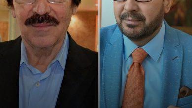 صورة بأساليبهما الخاصة الشهيرة .. هجوم متبادل بين فيصل القاسم و ياسر العظمة