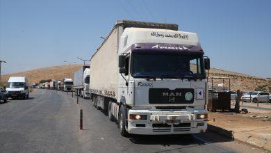 صورة وصول مساعدات جديدة إلى إدلب