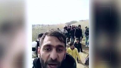 صورة #شاهد : مئات المهاجرين يعبرون الحدود التركية و يدخلون اليونان