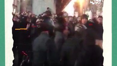 صورة خروج مظاهرة لطلاب جامعة أمير كبير في طهران على خلفية إسقاط الطائرة الأوكرانيا
