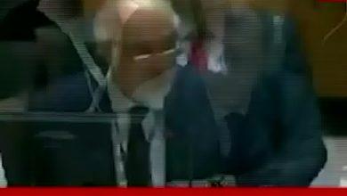 """صورة #شاهد لحظة مقاطعة كلام مندوب النظام """"بشار الجعفري""""واجباره على السكوت في مجلس الأمن"""