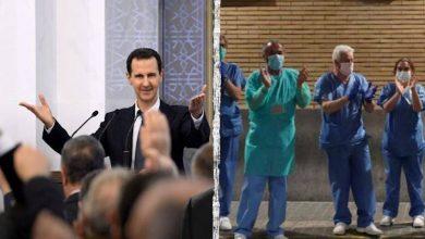 صورة من شرفات الحجر الصحي .. كوكب يغني ويحيي كوادره الطبية .. وسوريون يحييون بشار الأسد وأجهزة الأمن