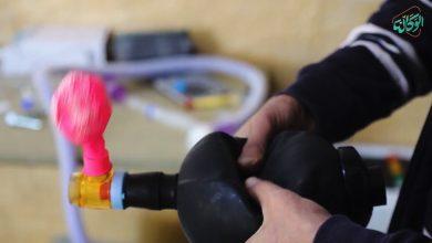 صورة جهاز التنفس الاصطناعي لإنعاش المرضى, مصمم يدوياً في عامودا