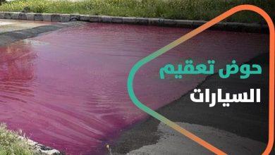 """صورة الإعلام السوري يحتفي بـ""""حوض تعقيم السيارات"""".. وسوريون ينهالون سخرية وتهكماً"""
