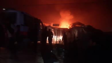 صورة فريق منسقو استجابة سوريا يحصي الحرائق التي أصابت مخيمات الشمال السوري