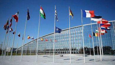 صورة انتهاء الاجتماع التركي ـ اليوناني في مقر الناتو