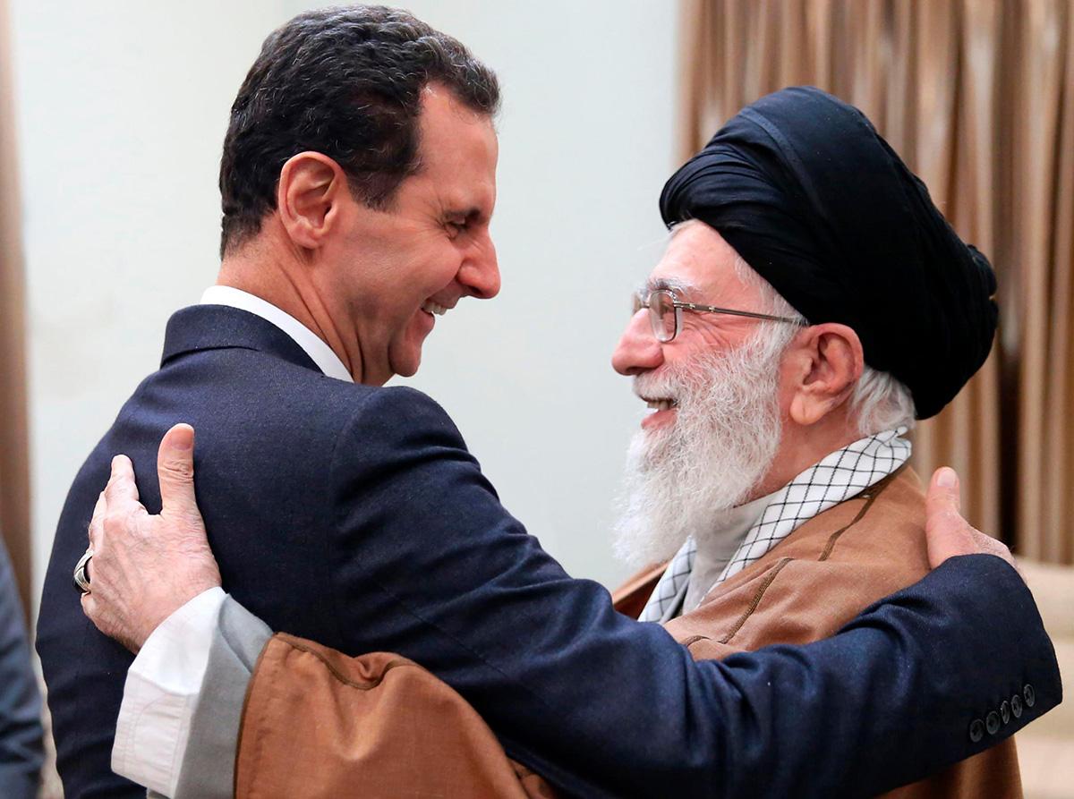 علي خامنئي وبشار الأسد