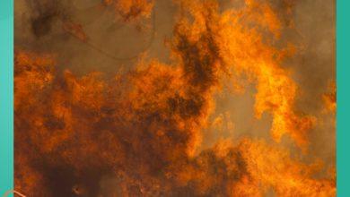 صورة بالصور والخرائط .. حقيقة حريق مستودع مؤسسة التبغ في القرداحة