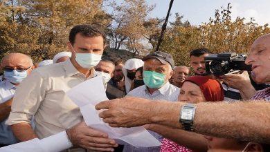 صورة بالفيديو.. بشار الأسد يزور مناطق الحرائق في الساحل السوري