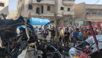 صورة قتلى وجرحى بانفجار شرق حلب