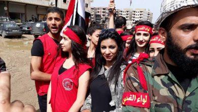 """صورة اشتباكات بين عناصر ميليشيا """"لواء القدس الفلسطيني"""" بسبب التحرش بالفتيات"""