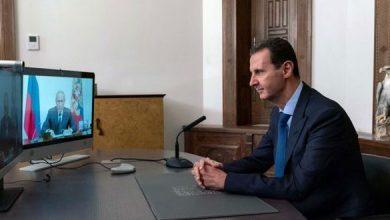 صورة عبر الفيديو.. اجتماع بين بوتين وبشار الأسد حول اللاجئين السوريين