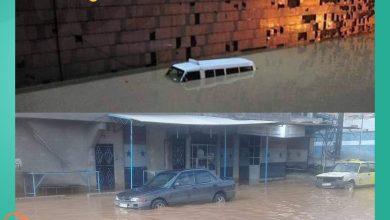 صورة شوارع دمشق تتحول إلى أنهار .. الشتاء يبدأ بإنذار السوريين