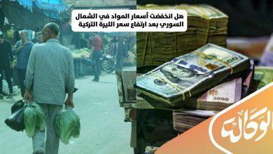 صورة هل انخفضت أسعار المواد في الشمال السوري بعد ارتفاع سعر الليرة التركية مقابل الدولار؟