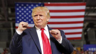 صورة ترامب يعلن: لقد فزت في الانتخابات