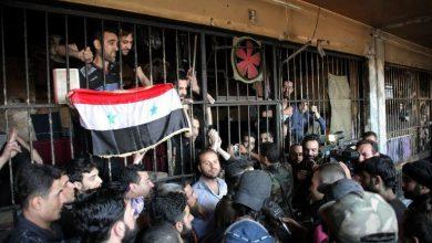 صورة بالصور.. النظام السوري يقيم احتفالية بسجن عدرا في دمشق